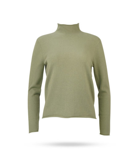 Mary Yve Cahmere Stehkragen Pullover Avocado 50022 679